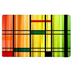 Line Rainbow Grid Abstract Apple Ipad Pro 9 7   Flip Case