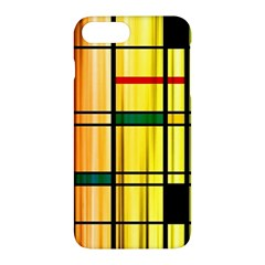 Line Rainbow Grid Abstract Apple Iphone 7 Plus Hardshell Case by BangZart