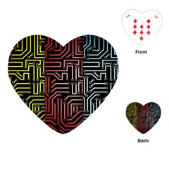 Circuit Board Seamless Patterns Set Playing Cards (heart)  by BangZart