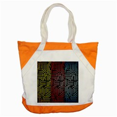 Circuit Board Seamless Patterns Set Accent Tote Bag by BangZart