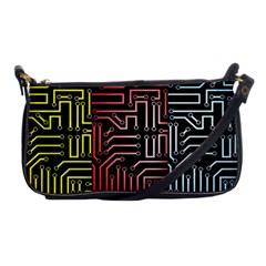 Circuit Board Seamless Patterns Set Shoulder Clutch Bags