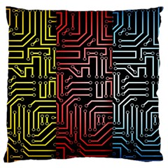 Circuit Board Seamless Patterns Set Large Cushion Case (one Side)