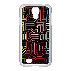 Circuit Board Seamless Patterns Set Samsung Galaxy S4 I9500/ I9505 Case (white) by BangZart
