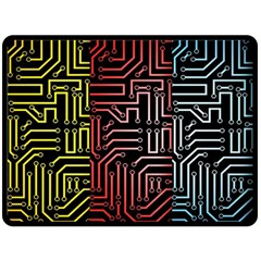 Circuit Board Seamless Patterns Set Double Sided Fleece Blanket (large)  by BangZart
