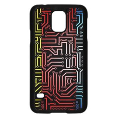 Circuit Board Seamless Patterns Set Samsung Galaxy S5 Case (black) by BangZart
