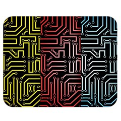 Circuit Board Seamless Patterns Set Double Sided Flano Blanket (medium)  by BangZart