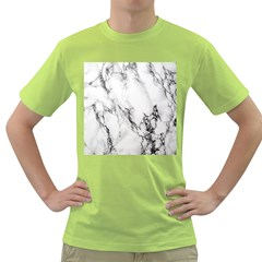 Marble Pattern Green T Shirt