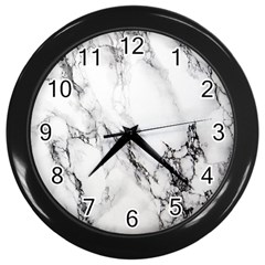 Marble Pattern Wall Clocks (black)