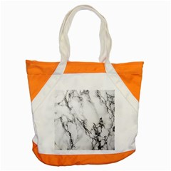 Marble Pattern Accent Tote Bag
