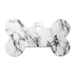 Marble Pattern Dog Tag Bone (one Side)