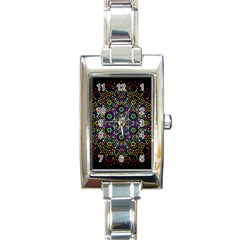 The Flower Of Life Rectangle Italian Charm Watch by BangZart