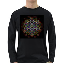 The Flower Of Life Long Sleeve Dark T Shirts