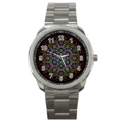 The Flower Of Life Sport Metal Watch