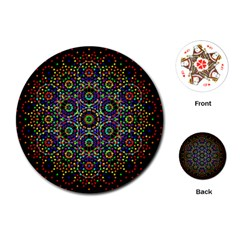 The Flower Of Life Playing Cards (round)