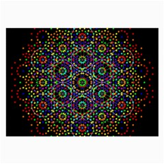 The Flower Of Life Large Glasses Cloth by BangZart