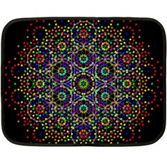 The Flower Of Life Double Sided Fleece Blanket (mini)  by BangZart