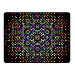 The Flower Of Life Fleece Blanket (small) by BangZart