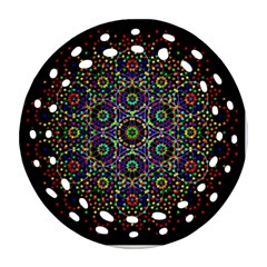The Flower Of Life Round Filigree Ornament (two Sides)
