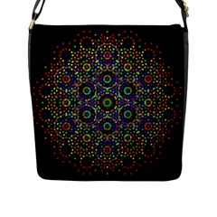 The Flower Of Life Flap Messenger Bag (l)