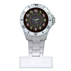 The Flower Of Life Plastic Nurses Watch by BangZart