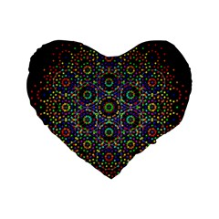 The Flower Of Life Standard 16  Premium Flano Heart Shape Cushions by BangZart