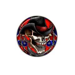 Confederate Flag Usa America United States Csa Civil War Rebel Dixie Military Poster Skull Hat Clip Ball Marker (4 Pack)
