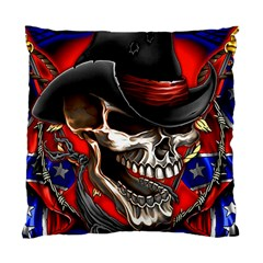 Confederate Flag Usa America United States Csa Civil War Rebel Dixie Military Poster Skull Standard Cushion Case (one Side) by BangZart