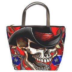 Confederate Flag Usa America United States Csa Civil War Rebel Dixie Military Poster Skull Bucket Bags