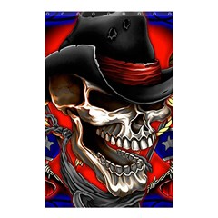 Confederate Flag Usa America United States Csa Civil War Rebel Dixie Military Poster Skull Shower Curtain 48  X 72  (small)