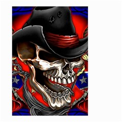 Confederate Flag Usa America United States Csa Civil War Rebel Dixie Military Poster Skull Small Garden Flag (two Sides) by BangZart