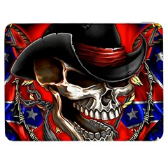 Confederate Flag Usa America United States Csa Civil War Rebel Dixie Military Poster Skull Samsung Galaxy Tab 7  P1000 Flip Case by BangZart