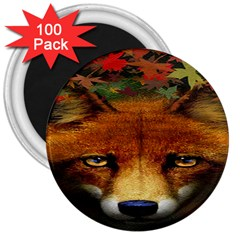 Fox 3  Magnets (100 Pack)
