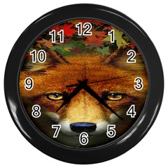 Fox Wall Clocks (black)