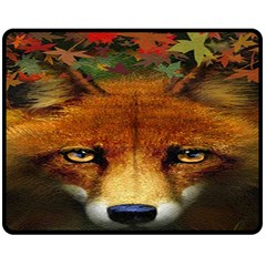 Fox Double Sided Fleece Blanket (medium)