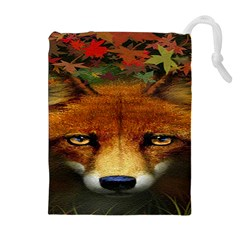 Fox Drawstring Pouches (extra Large) by BangZart