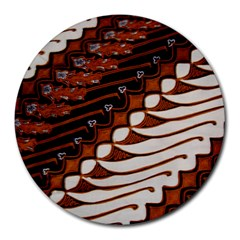 Traditional Batik Sarong Round Mousepads