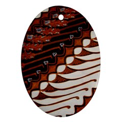 Traditional Batik Sarong Oval Ornament (two Sides)