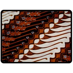 Traditional Batik Sarong Fleece Blanket (large)  by BangZart