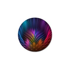 Colored Rays Symmetry Feather Art Golf Ball Marker (4 Pack) by BangZart