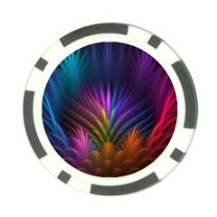 Colored Rays Symmetry Feather Art Poker Chip Card Guard (10 Pack) by BangZart