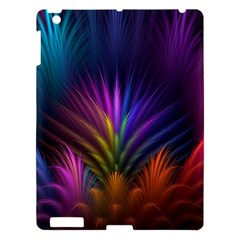 Colored Rays Symmetry Feather Art Apple Ipad 3/4 Hardshell Case