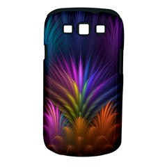 Colored Rays Symmetry Feather Art Samsung Galaxy S Iii Classic Hardshell Case (pc+silicone)