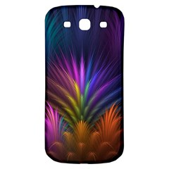 Colored Rays Symmetry Feather Art Samsung Galaxy S3 S Iii Classic Hardshell Back Case by BangZart