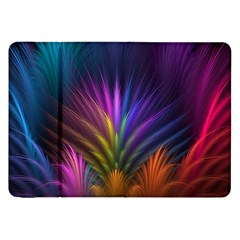 Colored Rays Symmetry Feather Art Samsung Galaxy Tab 8 9  P7300 Flip Case