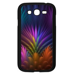 Colored Rays Symmetry Feather Art Samsung Galaxy Grand Duos I9082 Case (black)