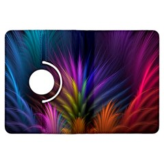Colored Rays Symmetry Feather Art Kindle Fire Hdx Flip 360 Case by BangZart