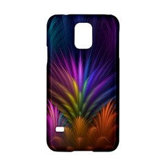 Colored Rays Symmetry Feather Art Samsung Galaxy S5 Hardshell Case