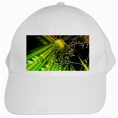 Electronics Machine Technology Circuit Electronic Computer Technics Detail Psychedelic Abstract Patt White Cap