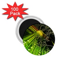 Electronics Machine Technology Circuit Electronic Computer Technics Detail Psychedelic Abstract Patt 1 75  Magnets (100 Pack)