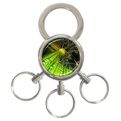 Electronics Machine Technology Circuit Electronic Computer Technics Detail Psychedelic Abstract Patt 3 Ring Key Chains by BangZart